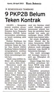 9-PKP2B-Belum-Teken-Kontrak-Bisnis-Indonesia-Kamis-30-Apr-2015