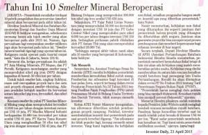 Tahun-Ini-10-Smelter-Mineral-Beroperasi